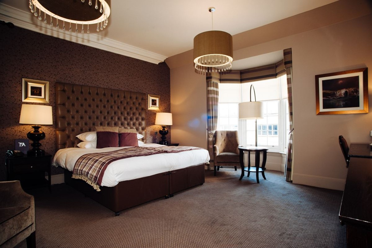 Stunning bedroom at Dumfries Arms Hotel